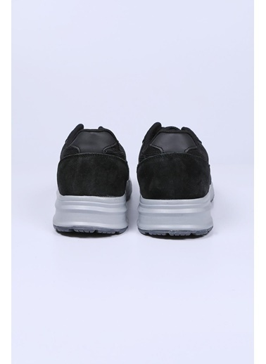 Krähe Siyah Hakiki Deri Sneaker Siyah